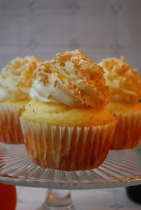 Mimosa Cupcakes! I'd probably skip the cake mix and make them from scratch but yummmm!