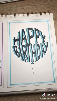 Bullet Journal Writing, Bullet Journal Ideas Pages, Bullet Journal Inspiration, Happy Birthday Cards, Diy Birthday, Birthday Gifts, Hand Lettering Art, Hand Lettering Tutorial, Diy Crafts Hacks