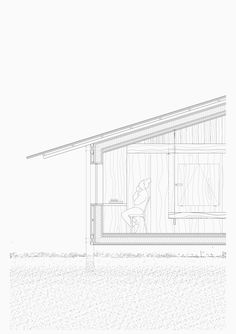 Enclosures Pavilosta Poet Huts is our second prize competition in Latvia. Our proposal places a single building in the center of the site enclosing a garden Architecture Concept Drawings, Architecture Plan, Architecture Details, Landscape Architecture, Architectural Section, Land Scape, Planer, Drawing Techniques, Landscaping