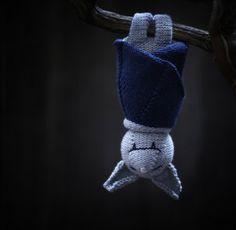 sleeping bat knitting pattern for purchase at Knit Kit