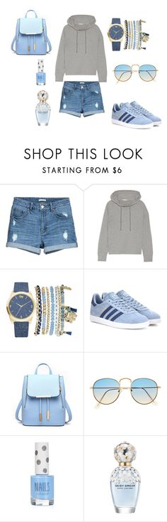 """""""💙"""" by aneleh-enahel ❤ liked on Polyvore featuring James Perse, Mixit, adidas Originals, Topshop and Marc Jacobs"""