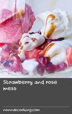 "Strawberry and rose mess | This is Eton mess, Nopi-style. It's both a wow of a pudding and – given that all the elements can be made in advance and just put together at the last minute – is also a very relaxing one to make and serve to friends. The dried rose petals look lovely sprinkled on top, but don't worry if you can't get hold of any: the advantage of having a pudding with the word ""mess"" in its title is that there is very little pressure to perform on the presentation front. You'll…"
