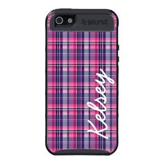 Personalized Pink Purple Argyle SkinIt Cargo Case Covers For iPhone 5
