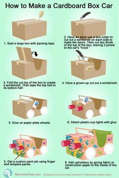 How to make: a cardboard box car!