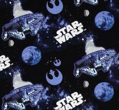 Tela FQ :: Star Wars The Millenium Falcon :: de nosgustanlosretros por DaWanda.com