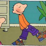 Jules past schoenen. Thuis bij Jules wordt de schoenkast opgeruimd. Jules en zus gaan winkeltje spelen en schoenen passen. Wat vreemd, de sc...