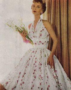 1954...Love this dress-so feminine and pretty