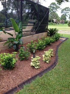 Ecoborder 4 Ft Brown Rubber Curb Landscape Edging 4 Pack Gardening