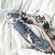 navy blue tattoos