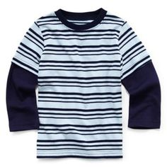 Okie Dokie® Long-Sleeve Striped Tee – Boys 2t-6  found at @JCPenney