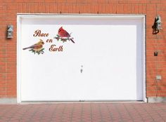 Peace on Earth Christmas Holiday Garage Door Magnets