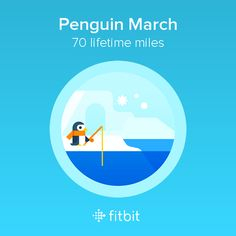 I covered 70 miles with my #Fitbit and earned the Penguin March badge.