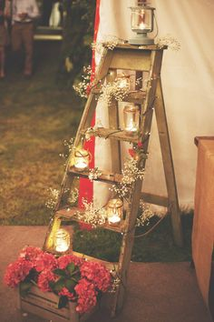 A pathway of luminaries can help guide guests to and from your wedding reception. Plus, it will add plenty of drama to your exit photos!