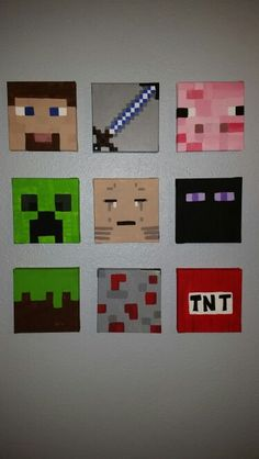 Mindcraft wall art we did for fun!