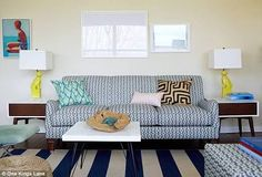 navy patterned sofa - Google Search