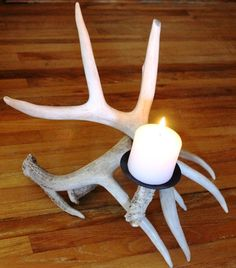 12f65d98050 Whitetail Deer Antler Candle Holder by Deer   Dear on Etsy