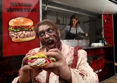 I have an issue with this on so many levels.   Zombie Food To Go, Food Truck Serves Fresh Brain Burgers - DesignTAXI.com
