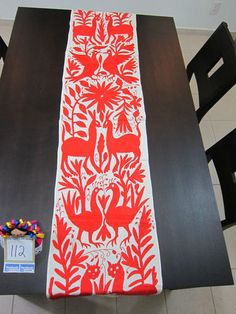 Otomi Fabric Table Runner Embroidered in Mex 100 Cotton FolkArt OOAK TR112 | eBay