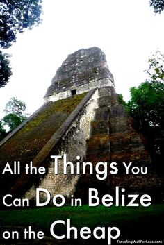 A Belize vacation doesn't have to be expensive. Travel expert Debra Schroeder shares all the things you can do in Belize on the cheap. | things to do in Belize | What to do in Belize | Best Places to Visit in Belize | What to see in Belize | Central America | Blue Hole | TravelingWellForLess.com