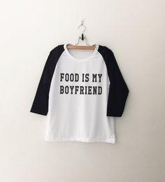 Voedsel tshirt t shirt eten is mijn vriendje tumblr door CozyGal