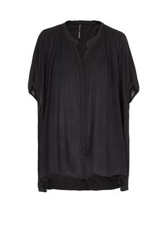 MANGO - Pleated oversized blouse