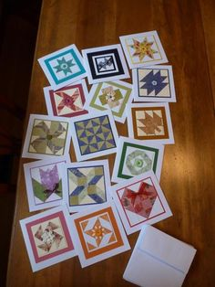 hand crafted cards: Quilt Card Crazy! by Carolynn  ... each one with a different patchwork pattern ... WOW!