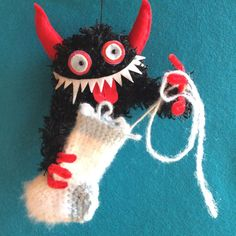 KRAMPUS ORNAMENT unraveling by hiGuys on Etsy