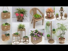 Jute Crafts, Recycled Crafts, Diy Crafts, Potted Plants, Garden Plants, Sisal, Plant Care, Planter Pots, Recycling