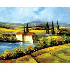 """Magic Slice Non-Slip Flexible Cutting Board, Gourmet Size 12"""" x 15"""", Tuscan Scene by H. Hargrove by Microthin Products Inc.. $17.22. Kitchen Fashion - Makes a Great Wine Placemat! Protects your tables and counters from wine spills.. Non-Slip Safe - Will not slide on your counter.. Anitbacterial Construction using Tricloban? Just rinse with soap and warm water to clean.. Protects Surfaces - Easy to Clean; wine, oils, juices and odors can't penetrate surface!. T..."""