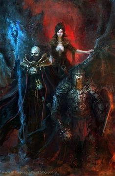 As sombrias ilustrações de fantasia de Andrey Vasilchenko