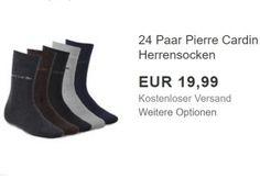 """Pierre Cardin: 24 Paar Socken für 19,99 Euro frei Haus https://www.discountfan.de/artikel/klamotten_&_schuhe/pierre-cardin-24-paar-socken-fuer-19-99-euro-frei-haus.php Viele Socken für wenig Geld: Als """"Wow! des Tages"""" sind heute bei Ebay 24 Paar Herrensocken von Pierre Cardin für 19,99 Euro frei Haus zu haben. Verfügbar sind zwei Größengruppen, fünf Farben und zwei Farb-Sets. Pierre Cardin: 24 Paar Socken für 19,99 Euro frei Haus (Bild: Ebay.d... #Socke"""