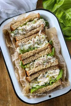 Tuna Salad Recipes This easy tuna salad recipe is one of my go-to easy lunches during the warmer summer months. It& perfect in tuna salad sandwiches or next to some coleslaw! Tuna Sandwich Recipes, Tuna Fish Recipes, Cucumber Sandwiches, Tuna Salad Recipes, Lunch Recipes, Pasta Recipes, Keto Recipes, Breakfast Recipes, Dinner Recipes