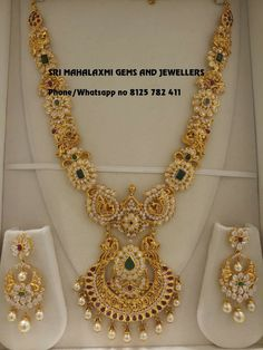 Bridal Earrings Long For Women 67 Ideas Gold Chain Design, Gold Jewellery Design, Gold Jewelry, Gold Necklace, Jewelery, Diamond Jewelry, Indian Jewelry Sets, Indian Wedding Jewelry, Bridal Jewelry