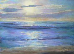 Pintura al óleo impresionista paisaje marino por CarolSchiffStudio