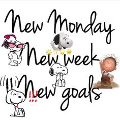 50 Inspirational And Motivational Images & Quotes To Start The New Week New Week Quotes, Monday Quotes, Daily Quotes, Monday Pics, It's Monday, Monday Night, Snoopy Love, Charlie Brown And Snoopy, Snoopy And Woodstock