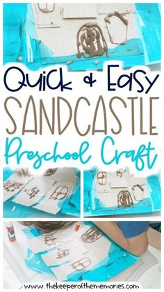 Encourage creative thinking and fine motor skills with this quick Diy Crafts For Kids Easy, Fun Diy Crafts, Craft Projects For Kids, Diy Projects, Beach Theme Preschool, Preschool Themes, Preschool Crafts, Sensory Activities Toddlers, Kids Learning Activities