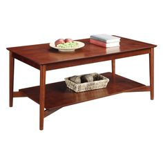 Convenience Concepts Savannah Mahogany Coffee Table