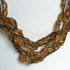 Sunflower - Crocheted Necklace. $8.00, via Etsy.