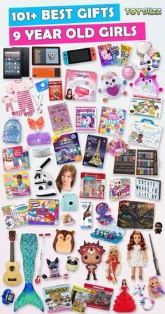 Browse our Christmas Gift Guide For Kids with Best Gifts For Girls. Discover educational toys, unique toys, kids games, kids books, and more for your 9 year old girl. Make her Christmas extra magical with these delightful gifts she'll love! Best Gifts For Girls, Tween Girl Gifts, Toys For Girls, 9 Year Old Girl Birthday, Birthday Gifts For Kids, Birthday Presents, Birthday Ideas, 9 Year Old Christmas Gifts, Christmas Gift Guide