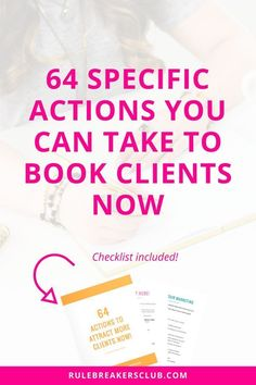 Ready to book out your client based business in the next few months but not sure what specific actions you need to take to make it happen?