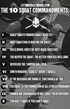 10 things about #squatting you maybe did not know #fitness #strength