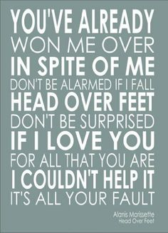 Alanis Morissette - Head Over Feet - Lyrics