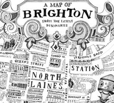 A Map of Brighton from the Latest Discoveries. by Helen Cann, via Behance