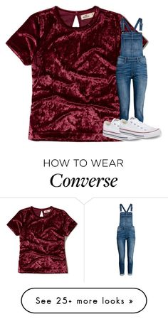 """""""Untitled #5179"""" by laurenatria11 on Polyvore featuring Hollister Co. and Converse Autumn Outfits, Cute Fall Outfits, Spring Outfits, Estilo Converse, Outfits With Converse, School Fashion, Teen Fashion, Fashion Outfits, Outfits 2016"""