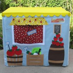 "Immediate Shipping Farm Stand Card Table Playhouse, Fits Your 34"" Card Table"