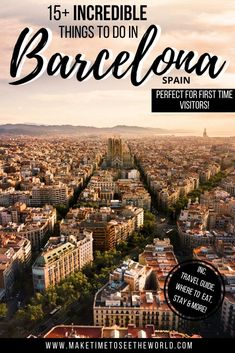 From the Sagrada Familia to the Nou Camp Stadium (and everywhere in between), these are the Top 15 Things to Do in Barcelona (+ some handy travel tips) to help you plan your visit *** Things to see in Barcelona | Barcelona Things to do | What to do in Barcelona | Barcelona What To Do | Barcelona Travel Tips | Places to visit in Barcelona | What to see in Barcelona | Barcelona Attractions | Barcelona Catalunya | Where to stay in Barcelona | Barcelona Bucket List | First time Barcelona… Europe Destinations, Europe Travel Tips, Travel Trip, European Vacation, European Travel, Valencia, Cool Places To Visit, Places To Travel, Spain Travel Guide