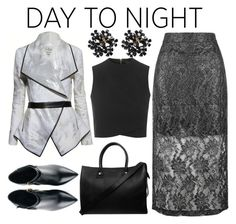 """""""Day to Night Black"""" by ravenallen ❤ liked on Polyvore featuring Jumpo, Kim Kwang, Paul & Joe and Topshop"""