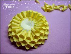 Подарки ручной работы: Как я делаю георгины. Paper Quilling Flowers, Quilling Techniques, Beautiful Flowers, Fruit, Create, Simple, Blog, Blogging, Sewing Techniques