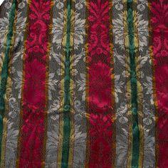 6 Beautiful Antique Jacquard Curtain Panels, Drapes