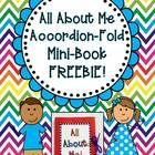 """Back to school FREEBIE! I hope you enjoy this """"All About Me"""" mini-book! This is a cute and simple project that would make a great """"first day of sch..."""